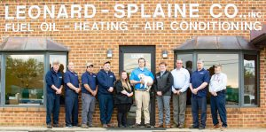 CEO and team of Leonard Splain HVAC in from of Office in Northern Virginia. This company Helps families with Heating and cooling in their homes.
